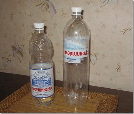 Вода Моршинская - старая 1,0л и новая 1,5л бутылки