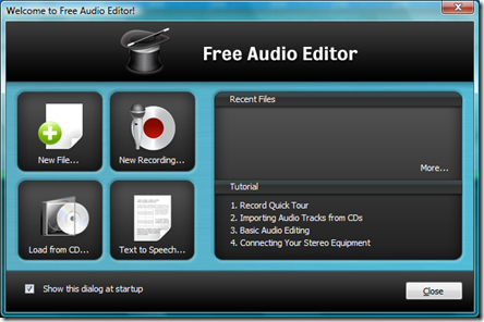FreeAudioEditor-Splash