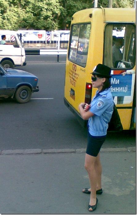 Сотрудница МВД в Одессе