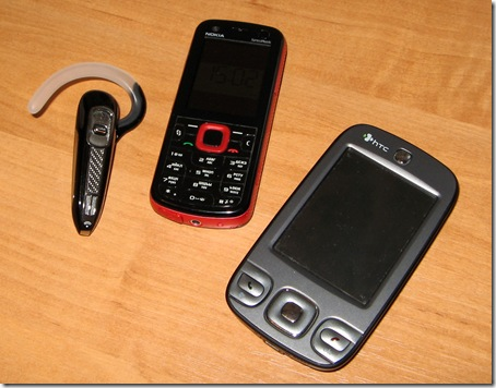 Plantronics Voyager 520 - HTC P3400 Gene - Nokia 5320 XpressMusic