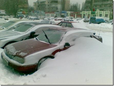Одесса - машина в снегу-2