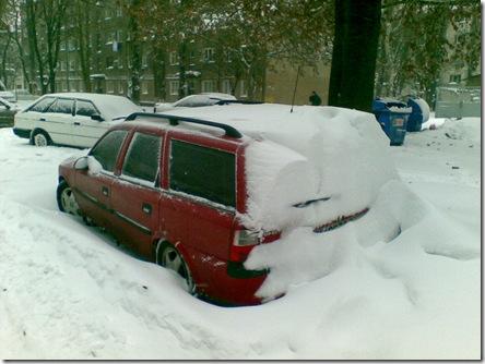 Одесса - машина в снегу