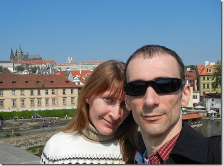 На Карловом мосту (в Праге)