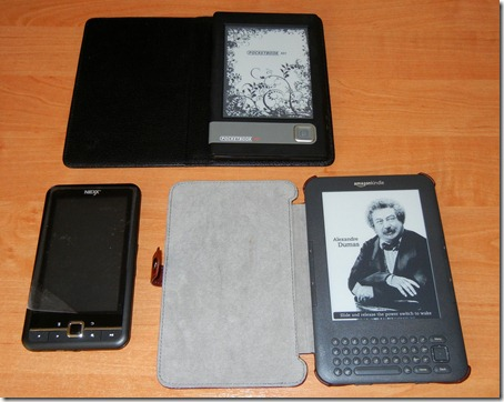 Pocketboo 301+, Amazon Kindle 3, NEXX 51