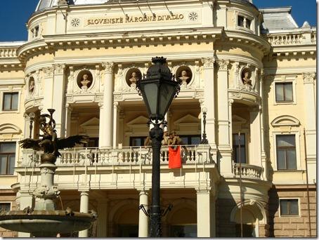 В центре Братиславы сегодня «шла война». Красная Армия (Červená Armáda) освободила Словакию